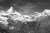 Idyllic Landscape Of Mountain Matterhorn, Zermatt, Switzerland poster