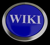 Wiki Button For Online Information Or Encyclopedia