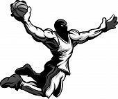 Basketball Player Cartoon Dunking Basketball Vector Illustration