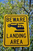 helicopter warning sign