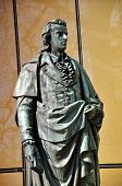 The Statue Of Friedrich Schiller In Salzburg, Austria