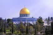 picture of aqsa  - view of the golden Dome of the Rock of Al Aqsa Mosque  - JPG