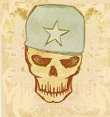 war grunge abstract skull
