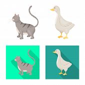 Vector Illustration Of Breeding And Kitchen Symbol. Set Of Breeding And Organic Stock Symbol For Web poster