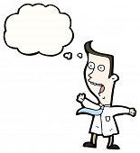 cartoon man having sudden thought