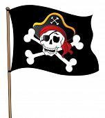 Pirate banner theme 1 - vector illustration.