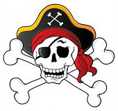 Pirate skull theme 1 - vector illustration.