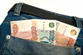 Banknotes In A Blue Jeans Pocket