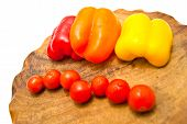 Cherry Tomatoes And Peppers