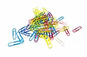 Colorful Paper Clips Close-up