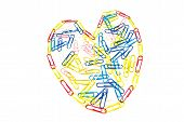 Heart Of Paper Clips