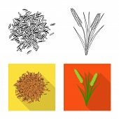 Vector Design Of Crop And Ecological Icon. Collection Of Crop And Cooking Stock Symbol For Web. poster