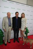 LOS ANGELES, CA - MAY 3: Dick Van Patten, James Van Patten, guest at the grand opening of the Pooch