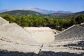 Ruinas del anfiteatro de Epidauro, Grecia