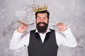 Premium Care. Elite Services. King Of Style. Bearded Hipster Shaving. Vintage Barber. Barber Hold Ha poster
