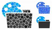 Open Palette Folder Composition For Open Palette Folder Icon Of Filled Circles In Variable Sizes And poster