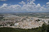 foto of parador  - View of Jaen city from Parador de Jaen Castillo de Santa Catalina in Jaen in Spain - JPG