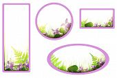 Banners With Viola Flowers