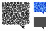 Message Composition Of Round Dots In Various Sizes And Color Tints, Based On Message Icon. Vector Ro poster