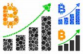 Bitcoin Growth Trend Composition Of Circle Elements In Variable Sizes And Color Hues, Based On Bitco poster