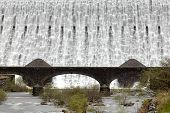 Caban Coch Dam Closeup