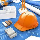 Orange Helmet for Builder and Blueprints