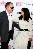 LOS ANGELES - FEB 23:  Francois-Henri Pinault, Salma Hayek attend the 2013 Film Independent Spirit Awards at the Tent on the Beach on February 23, 2013 in Santa Monica, CA
