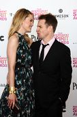 LOS ANGELES - FEB 23:  Leslie Bibb, Sam Rockwell attend the 2013 Film Independent Spirit Awards at t