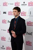 LOS ANGELES - FEB 23:  Daniel Radcliffe attends the 2013 Film Independent Spirit Awards at the Tent on the Beach on February 23, 2013 in Santa Monica, CA