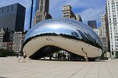 Chicago Bean Cloud Gate In Millennium Park