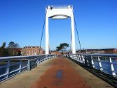 Forton Lake Bridge Against Blue Sky