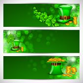 stock photo of pot gold  - Website header or banner set for St - JPG