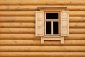 Wooden Window With Shutter Doors