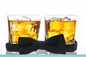 Two Whiskeys And Bow Tie