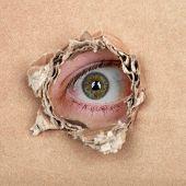 Olho espião no buraco