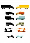 Retro Truck Set.
