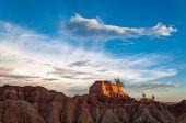 View Of Desert Mesa And Golden Light