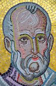 Close Up Of Mosaic Religious Icon