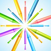 vector colorful pichkari background illustration