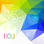 beautiful colorful indian festival holi background