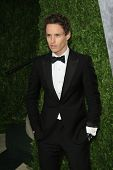 WEST HOLLYWOOD, CA - FEB 24: Eddie Redmayne at the Vanity Fair Oscar Party at Sunset Tower on February 24, 2013 in West Hollywood, California