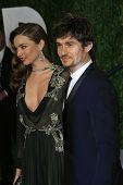 WEST HOLLYWOOD, CA - FEB 24: Miranda Kerr, Orlando Bloom at the Vanity Fair Oscar Party at Sunset Tower on February 24, 2013 in West Hollywood, California