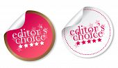 Editor's choice stickers