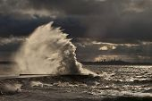 High Wave At The Pier
