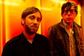 PARIS, FRANCE - NOVEMBRE 25, 2011: Portrait of the american rock group The Black Keys with Dan Auerb