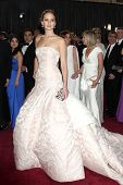 LOS ANGELES - FEB 24:  Jennifer Lawrence arrives at the 85th Academy Awards presenting the Oscars at