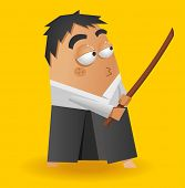 Aikido warrior. Vector illustration