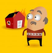 House insurance is important. Vector illustration