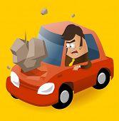 Need of Car insurance. Vector illustration