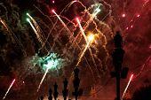 Fireworks In Barcelona Spain